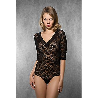 Lace Body With V-neck-Black
