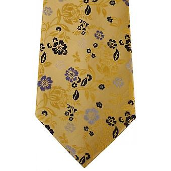 Posh and Dandy Floral Tie - Gold