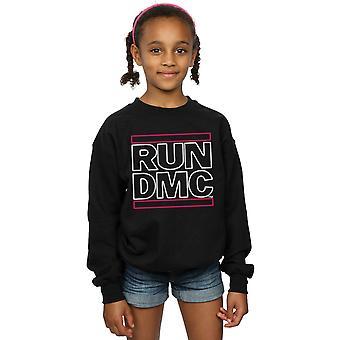 Run DMC Girls Neon Logo Sweatshirt