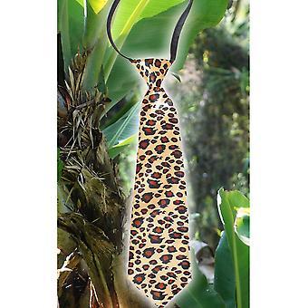 Bågar och band slips med leopardmönster