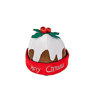 Adults Unisex Merry Christmas Pudding Festive Season Fancy Dress Accessory