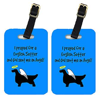 Carolines Treasures  AN1028BT Pair of 2 English Setter Luggage Tags