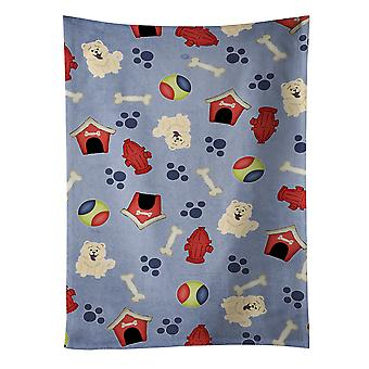Dog House Collection Chow Chow White Kitchen Towel