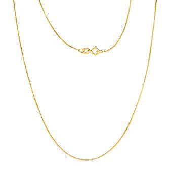 10 k geel of wit goud vak Chain ketting (0.6 mm)