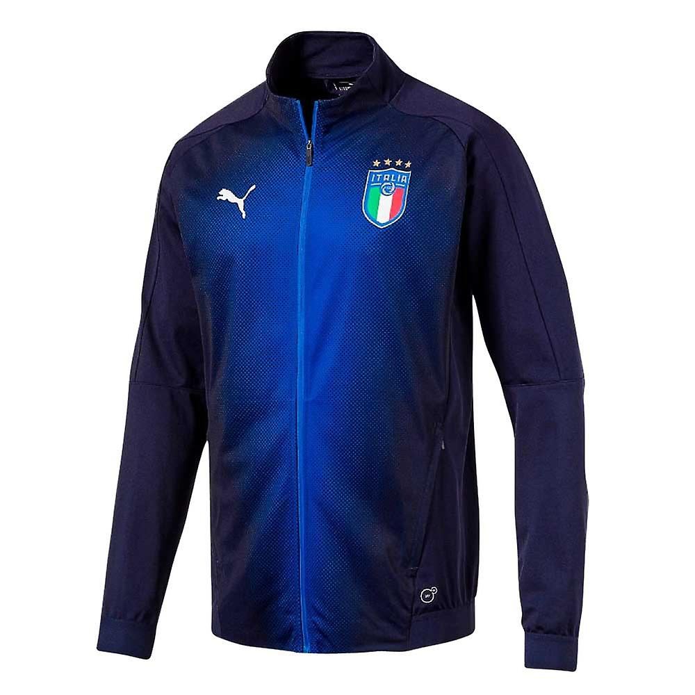 2018-2019 Italie Puma Stadium Jacket (Peacot)