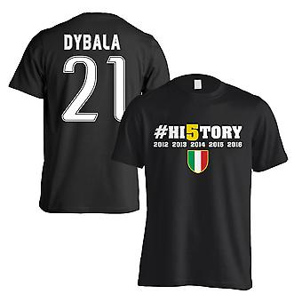 Juventus historie vindere T-Shirt (Dybala 21) sort - børn