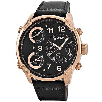 JBW diamond men's stainless steel watch G4 - rose gold / black