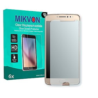Motorola Moto E4 Plus Screen Protector - Mikvon Clear (Retail Package with accessories) (intentionally smaller than the display due to its curved surface)