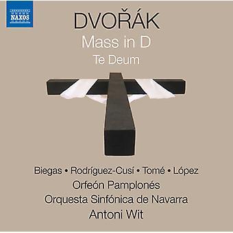 Dvorak / Biegas / Tome / Fernandez / Wit - Antonin Dvorak: Messe in D Te Deum [CD] USA Import