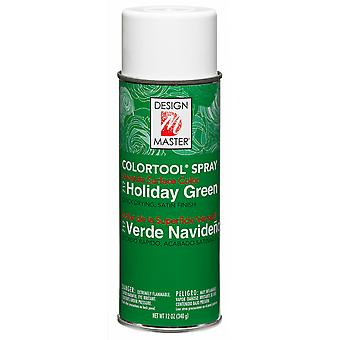 Design Master Colortool Spray Paint 12oz-Holiday Green DM-CT-717