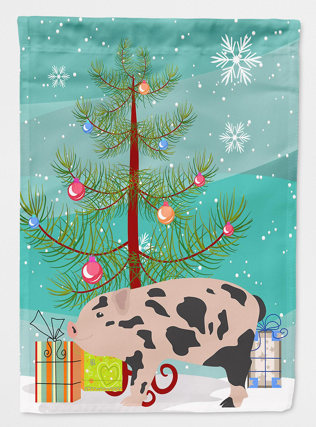 Miniature mini porc Noël drapeau Taille maison du canevas