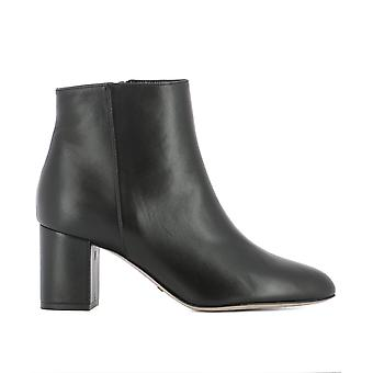 Sebastian S7439NAPPANERO ladies black leather ankle boots