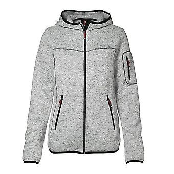 ID Womens/Ladies Knit Full Zip Fitted Fleece Jacket/Hoodie