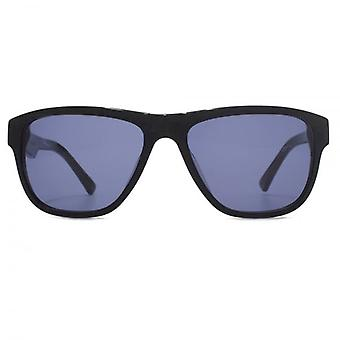 French Connection Premium Classic Rectangle Sunglasses In Black Wood Effect