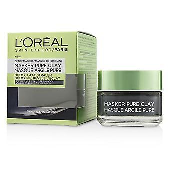 L'OREAL peau Expert Pure argile masque - détoxifie et clarifie - 50ml/1. 7 oz