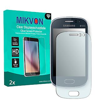 Samsung S6810P Galaxy Fame Screen Protector - Mikvon Clear (Retail Package with accessories)