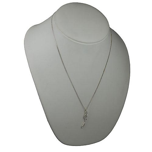Silver 34x7mm plain Initial J Pendant with a curb Chain 22 inches