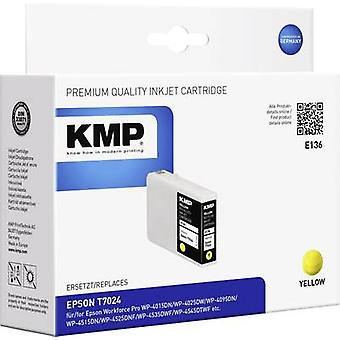 KMP Ink replaced Epson T7024 Compatible Yellow