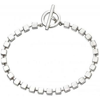 Beginnings Cube T Bar Bracelet - Silver