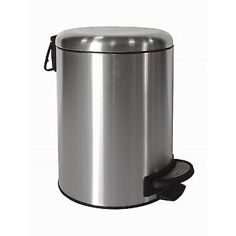 Brights 5L Stainless Steel Satin Finished Pedal Bin With Domed Shape Lid