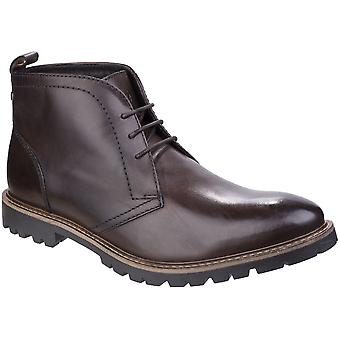 Base London Mens Trojan Washed Chukka LaceUp Leather Smart Ankle Boots