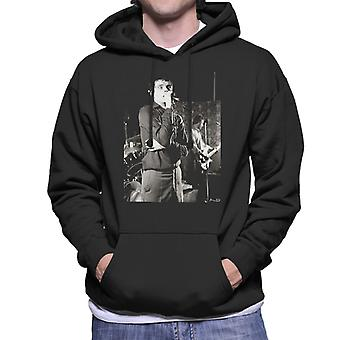 Ian Curtis Of Joy Division Singing At Bowdon Vale Youth Club Men's Hooded Sweatshirt