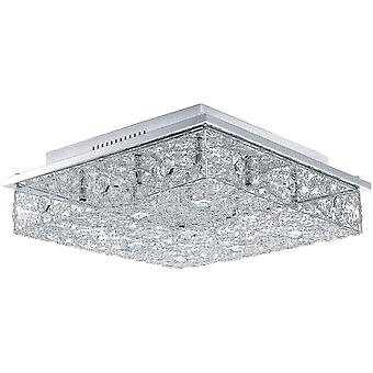 Eglo Led ceiling chrome and glass Stelaria 2