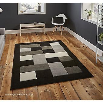 Sutu schwarz grau Teppich