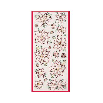 SALE - Papermania Poinsettia Glitter Dot Stickers for Christmas Crafts
