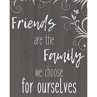 Друзья являются семьи плакат печать, Аллен Кимберли