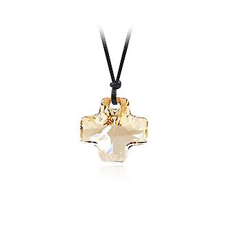 Lot of 10 necklaces woman cross in gold of Swarovski Elements Crystal