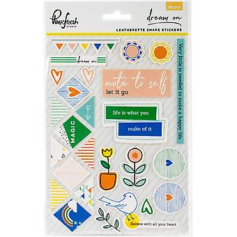 Dream On Leatherette Shape Stickers 5