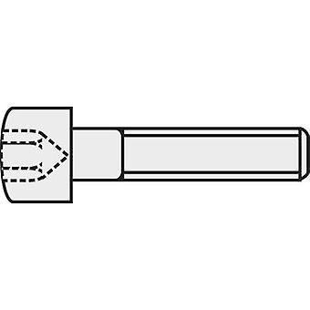 TOOLCRAFT 839669 Allen screws M3 10 mm Hex socket (Allen) DIN 912 ISO 4762 Steel 8.8. grade black 100 pc(s)