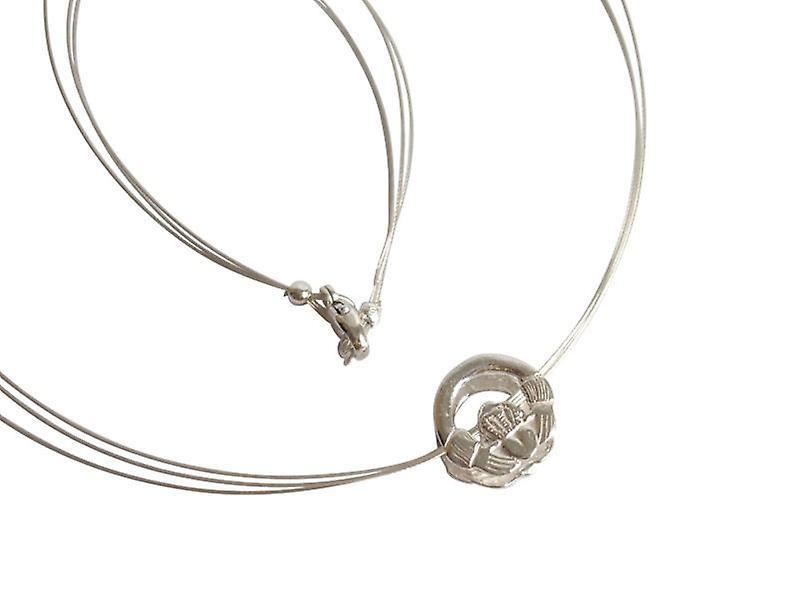Irische Claddagh Kette 925 argent Halskette Symbolkette argent
