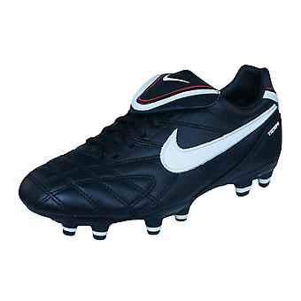 Nike Tiempo Mystic III FG Womens Leather Football Boots / Cleats - Black