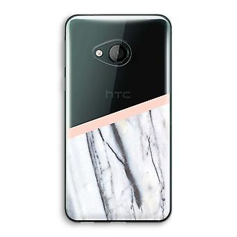 HTC U Play Transparent Case - A touch of peach
