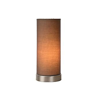 Lucide TUBI Traditional Taupe Cylinder Table Lamp