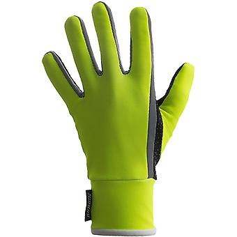 Santini Flashy Yellow Vega Aquazero Winter Cycling Gloves