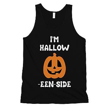 Hollow Inside Pumpkin Mens Black Tank Top