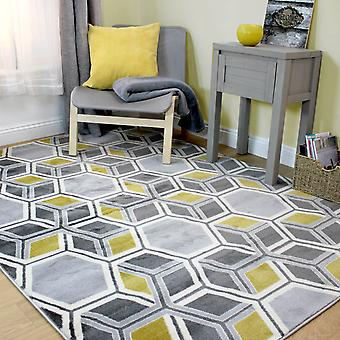 Cocktail Mimosa Rugs In Grey And Ochre