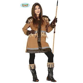 Guirca kostuum Eskimo kostuum dames volwassen Eskimo