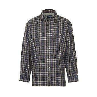Мужская чемпион Sherborne теплой микро Флисовая рубашка зимы мягкие проверка