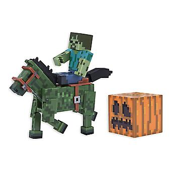 Minecraft Zombies With Zombie Horse Action Figure Set Series 4