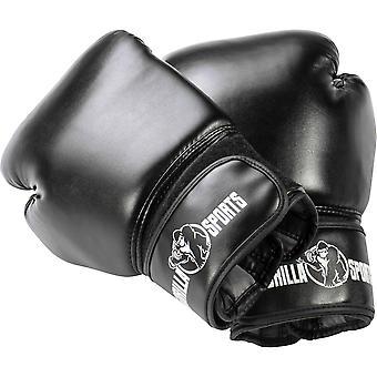 Profi Boxhandschuhe Schwarz 10 Unzen