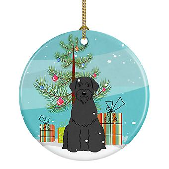 Merry Christmas Tree Giant Schnauzer keramiske Ornament