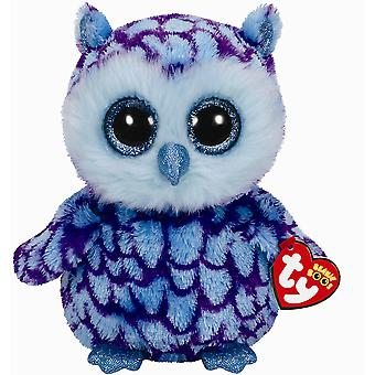 Ty 9in Oscar Owl Beanie Boo Buddy Cuddly Collectable Kids' Soft Plush Toy
