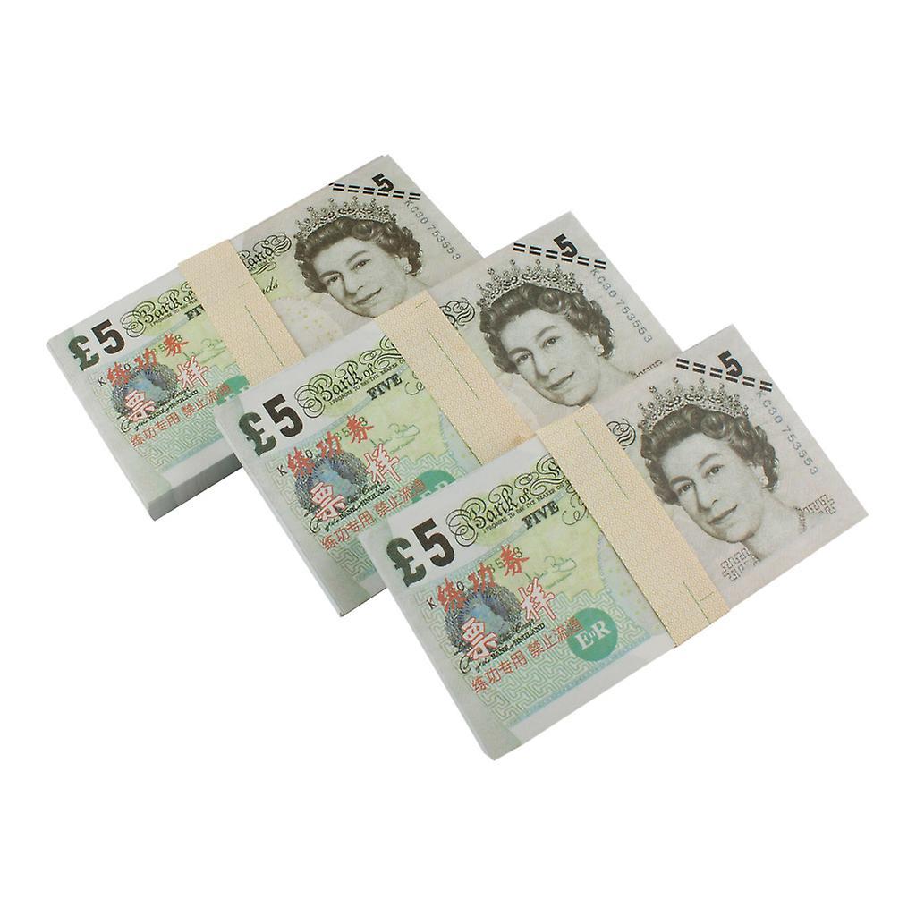Låtsaspengar - 5 Pund (100 sedlar)