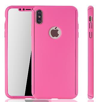 Apple iPhone XS Max Hülle Case Handy Cover Schutz Tasche Fullcover Panzerfolie