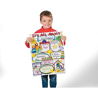 30 Kids Colour Your Own All About Jesus Nativity Story Posters