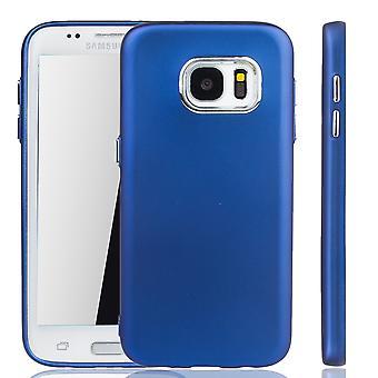 Samsung Galaxy S7 borda - caso de telefone celular para Samsung Galaxy S7 borda - móvel caso em azul escuro